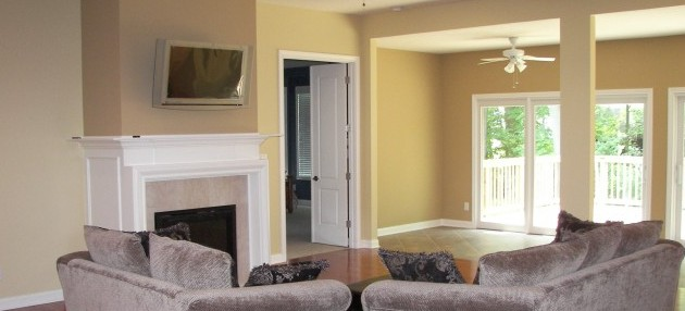 Bright and Cheerful Great Room - New Construction Painting