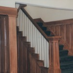After - Staircase & Paneling with wood faux finish