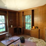 Client Desired to Paint the Library Paneling and Book Shelves